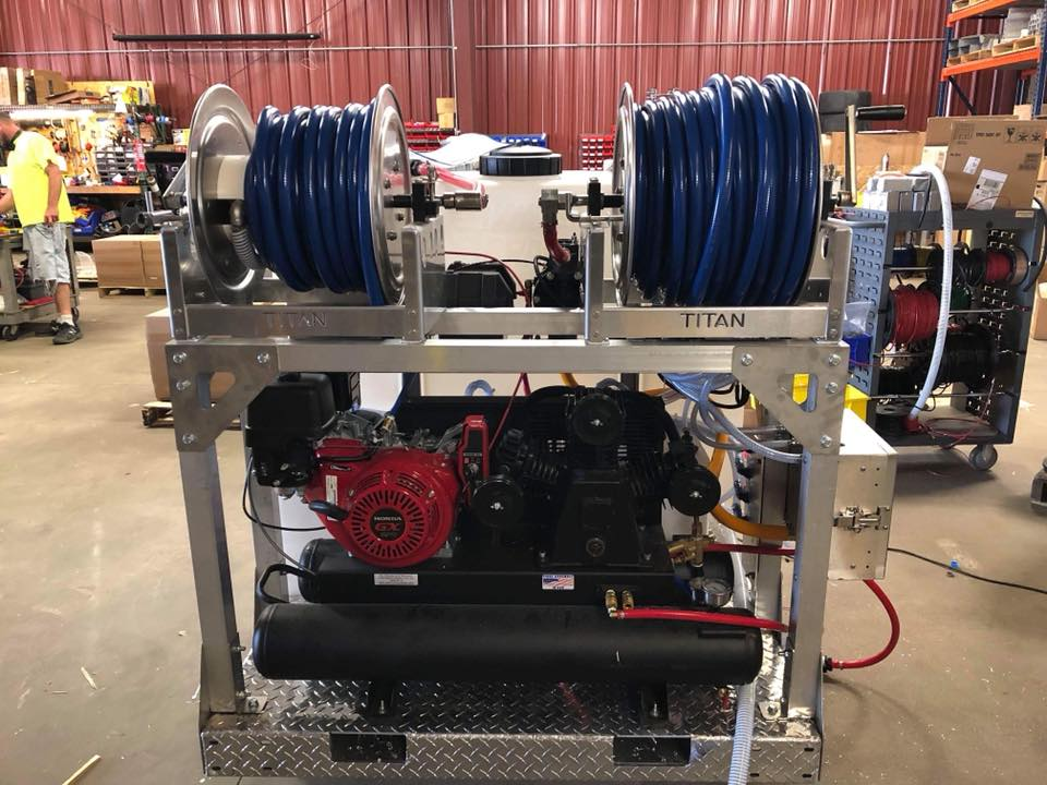 air compressor mid size skid
