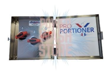 PRO-portioner chemical mixing system for pressure washers